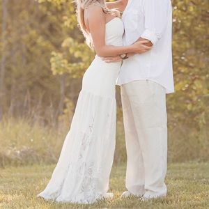 Sky Brand strapless gown maxi dress Oresti bridal